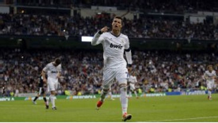 Cristiano Ronaldo scored maintained his goalscoring form in the rout of Malaga