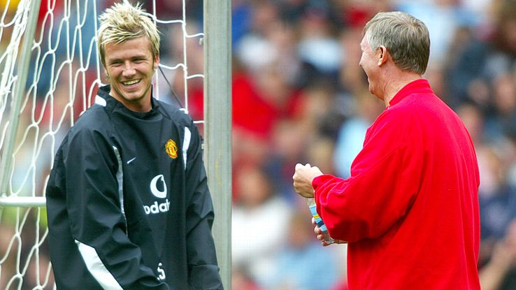 David Beckham and Sir Alex Ferguson had a somewhat fiery relationship throughout the winger's time at Old Trafford