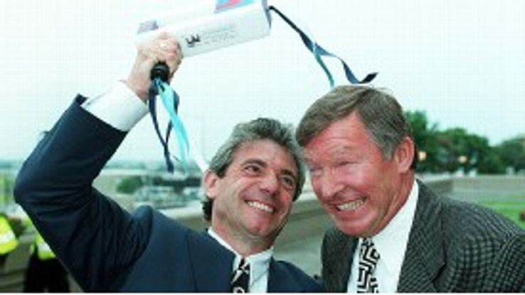 One of Man United's greatest title wins came in 1996 when they clawed back a 12-point gap in January to overhaul Kevin Keegan's Newcastle