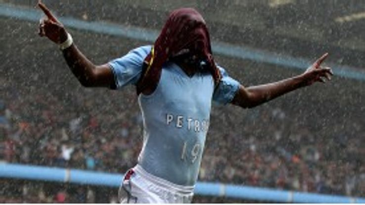 Christian Benteke celebrates his opener against Chelsea by revealing a dedication to Stiliyan Petrov