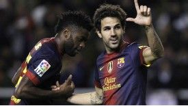 Song and Fabregas both left London for Catalonia