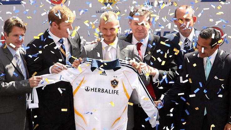 David Beckham made the decision to play in the U.S. with the Los Angeles Galaxy when he left Real Madrid