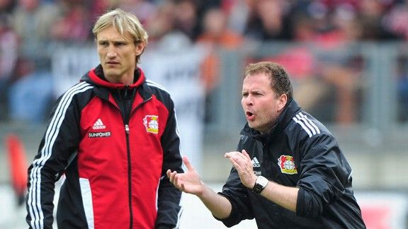 Sami Hyypia and Sascha Lewandowski have proved a success working in tandem at Leverkusen