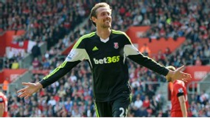 Peter Crouch put Stoke in front a Southampton