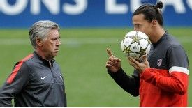 Carlo Ancelotti has the backing of Zlatan Ibrahimovic at PSG