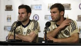 Mata and Ivanovic will face Manchester City twice in three days in the US this week