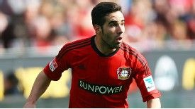 Dani Carvajal in action for Leverkusen