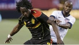 Romelu Lukaku battles with DaMarcus Beasley as Belgium take on USA in Cleveland
