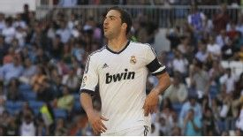 Gonzalo Higuain celebrates after scoring against Osasuna