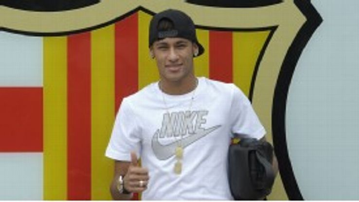 Neymar signed for Barcelona in a €57 million move from Santos.