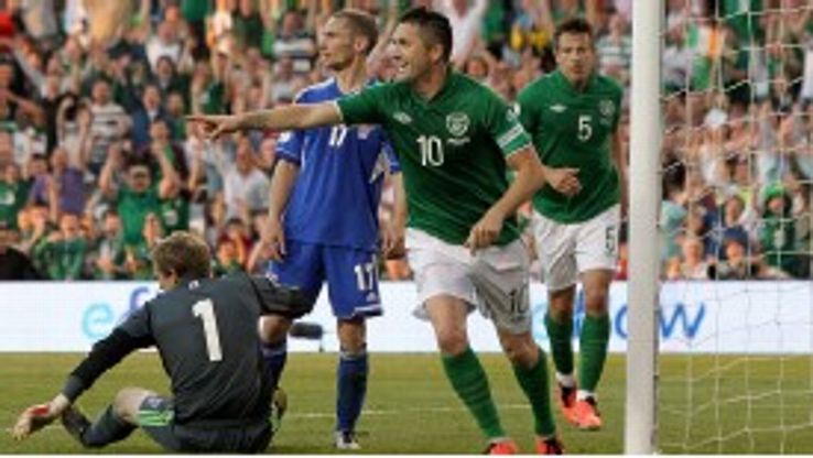 Robbie Keane scored a memorable hat-trick against Faroe Islands