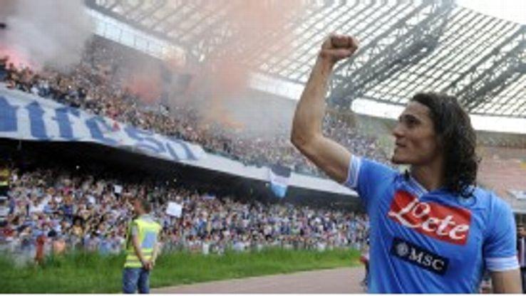 Napoli's gifted forward Edinson Cavani would command a hefty fee.