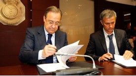 Florentino Perez welcomed, then bid goodbye to Jose Mourinho.
