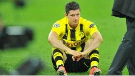 Robert Lewandowski is left to contemplate another season at Dortmund
