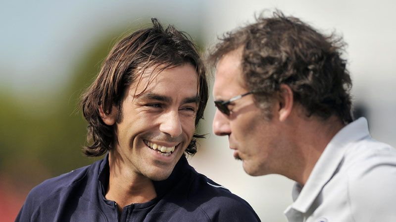 Robert Pires and Laurent Blanc were international team-mates for France