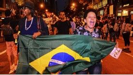 Protesters on the streets of Brazil