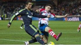 Liverpool and Everton target Guilherme Siqueira tackles Cristiano Ronaldo