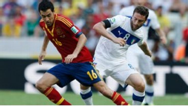 Sergio Busquets has played as a lone defensive midfielder throughout the Confederations Cup