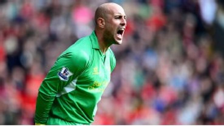 Pepe Reina's position is under threat for the first time since he joined Liverpool