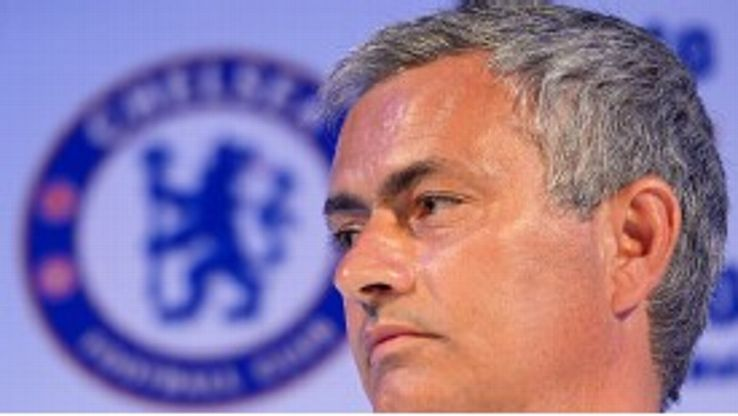 Jose Mourinho faces the press after Chelsea landed in Bangkok on their summer tour