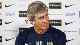 Manuel Pellegrini exuded calm as he faced the press for the first time