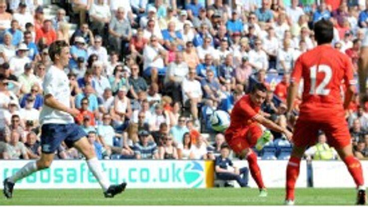 Iago Aspas scored on his non-competitive Liverpool debut against Preston.