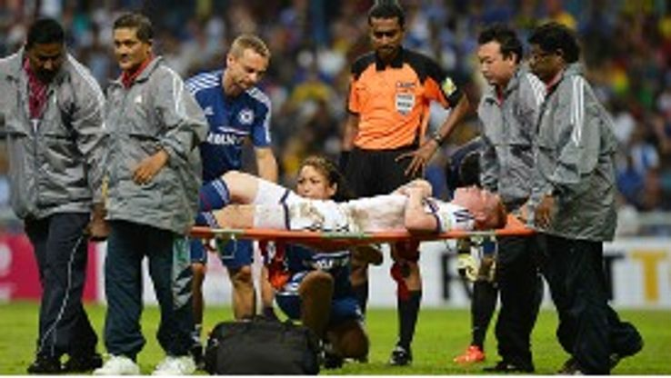 Kevin De Bruyne is stretchered off in Kuala Lumpur