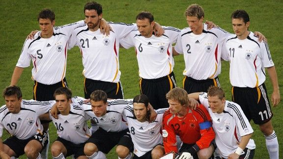 Christoph Metzelder (21) was part of the team which finished third at the 2006 World Cup