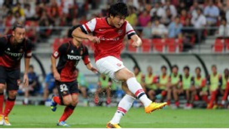 Ryo Miyaichi scored for Arsenal against Japanese side Nagoya Grampus