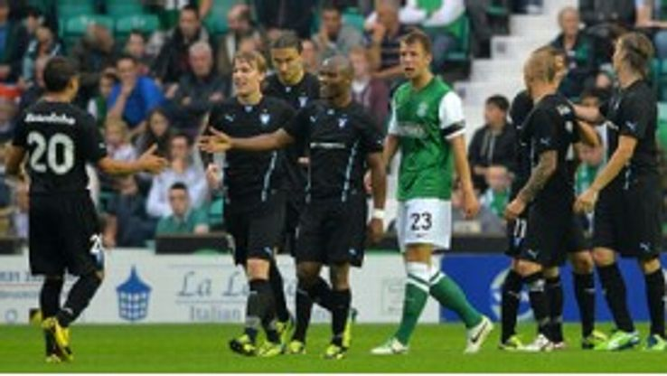 Malmo put on a fine display in knocking out Scottish side Hibernian