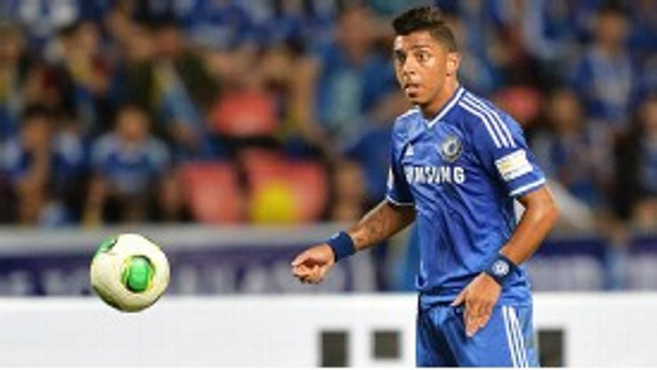 Wallace in action for Chelsea against Singha All Stars during their pre-season tour this summer.