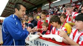 Dunga was among the Brazil Masters to play at Exeter in 2004.
