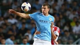 Edin Dzeko scored for Man City in their victory against Sunderland