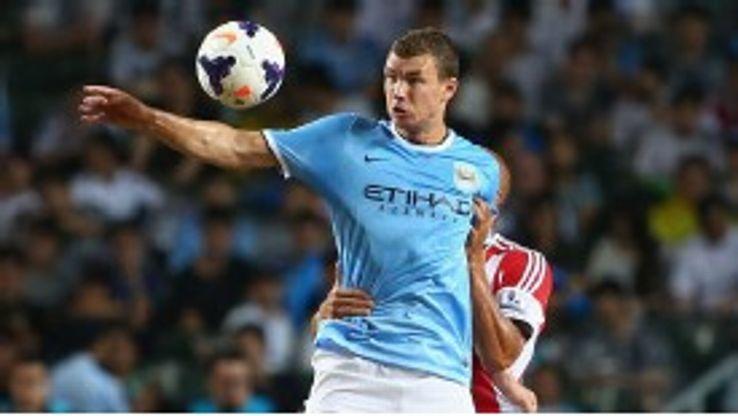 Edin Dzeko scored for Man City in their victory against Sunderland