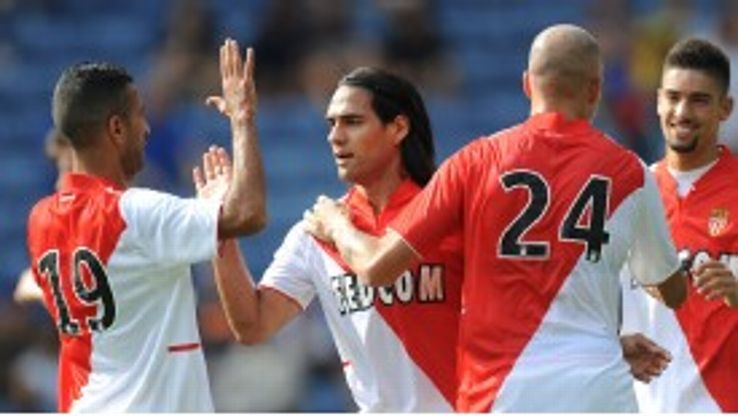 Falcao was on target at the King Power Stadium.