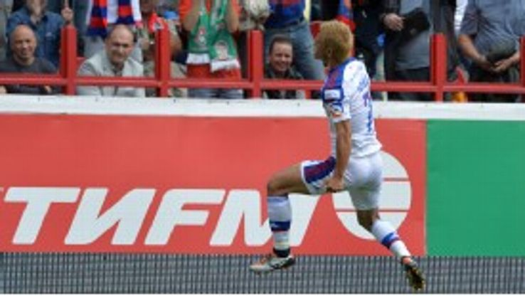 Keisuke Honda was on target for CSKA Moscow at the weekend.