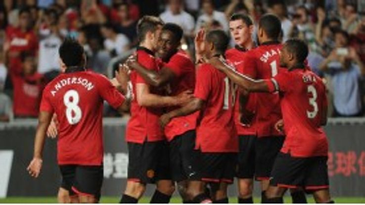 Manchester United cruised to a 5-2 win over Kitchee FC.