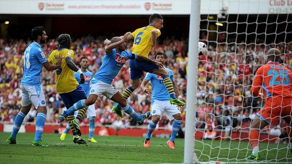 Laurent Koscielny nets the equaliser to secure a draw for hosts Arsenal.