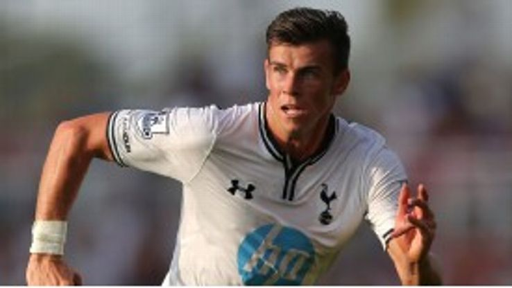 Gareth Bale in pre-season action for Tottenham.