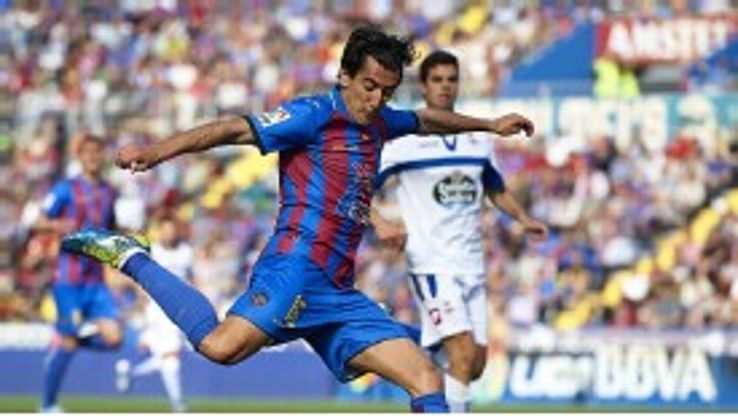 Levante in action against Deportivo la Coruna during the 2012-13 season.