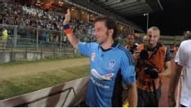 Alessandro Del Piero acknowledges the fans after the match.