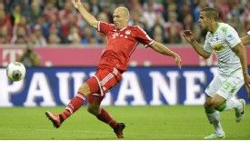 Arjen Robben scored the first Bundesliga goal of the 2013-14 campaign for Bayern Munich.