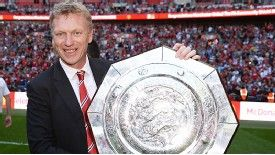 David Moyes with the Community Shield
