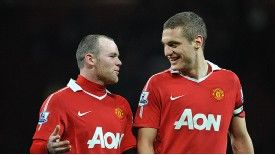 "Nemanja Vidic tells striker Wayne Rooney ""there''s no point"" in leaving Manchester United."