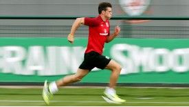 Gareth Bale was put through his paces at Dragon Park, Newport, on Monday.