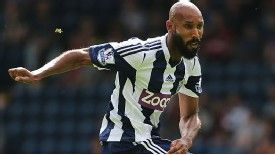 Nicolas Anelka in action for West Bromwich Albion