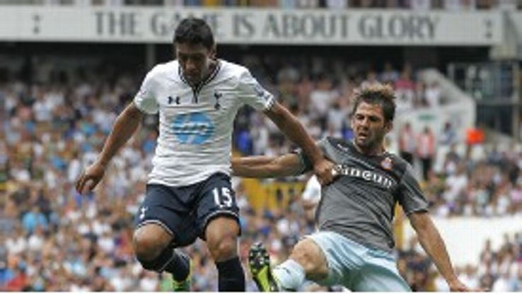 Tottenham's Paulinho begins his Premier League career against Crystal Palace.