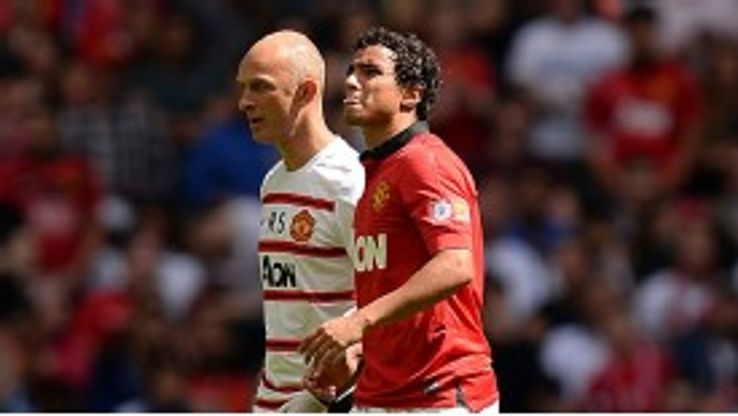 Rafael came off after just 16 minutes at Wembley