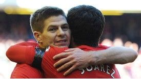 Steven Gerrard hopes to convince Luis Suarez to stay put.