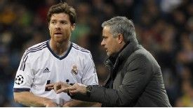 Xabi Alonso was one of the few Madrid players to retain their support for Jose Mourinho during his final season.